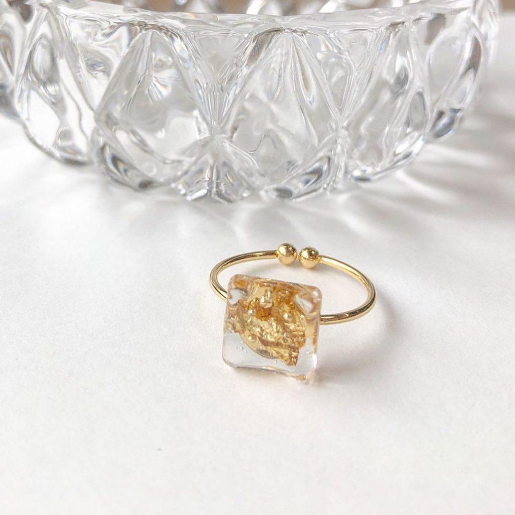 ハンドメイドの指輪の作り方 作品例1